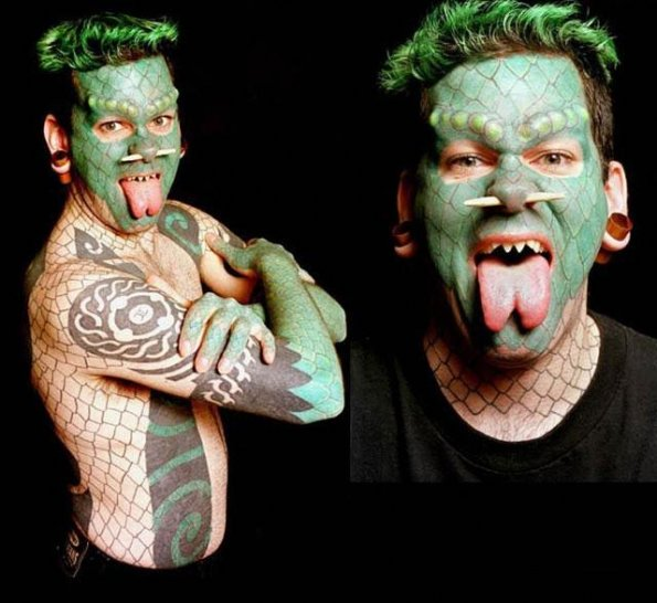 Lizardman tattoo