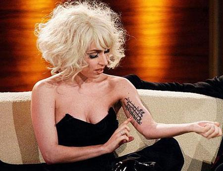 Lady Gaga tetování