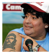 Diego Maradona tetování