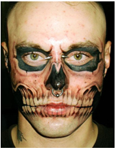 Tetování na obličeji
