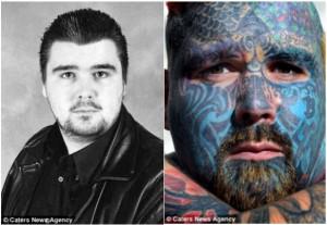 Životní změna: Posedlý tetováním. Matt v 16ti letech a po dvaceti letech